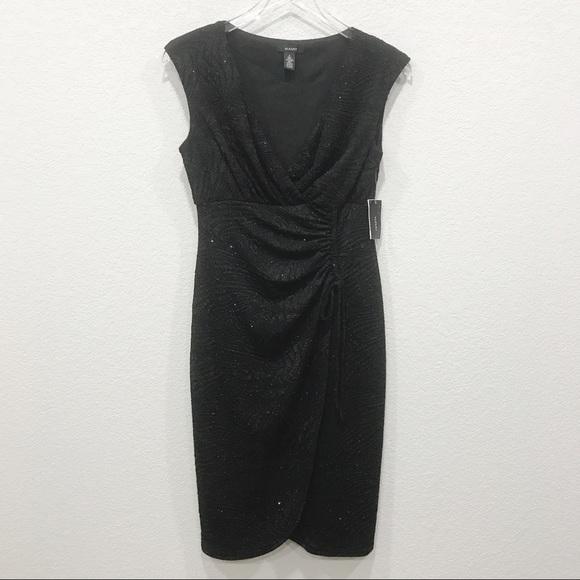 Alfani Dresses & Skirts - Alfani NWT surplice dress sparkly black cap sleeve